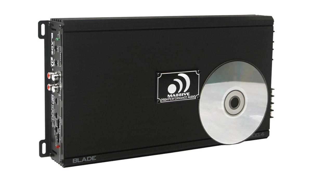 Massive Audio BP1000.4 V2 80 WATTS RMS X 4 @ 4 OHM 4 CHANNEL AMPLIFIER