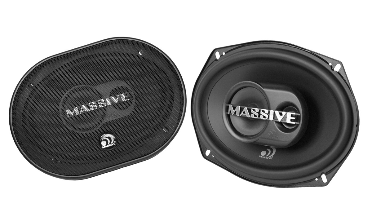 Massive Audio MX693 6x9 inch 60W RMS (250W Max Power) 4 ohms 3-Way Coaxial Car Speakers