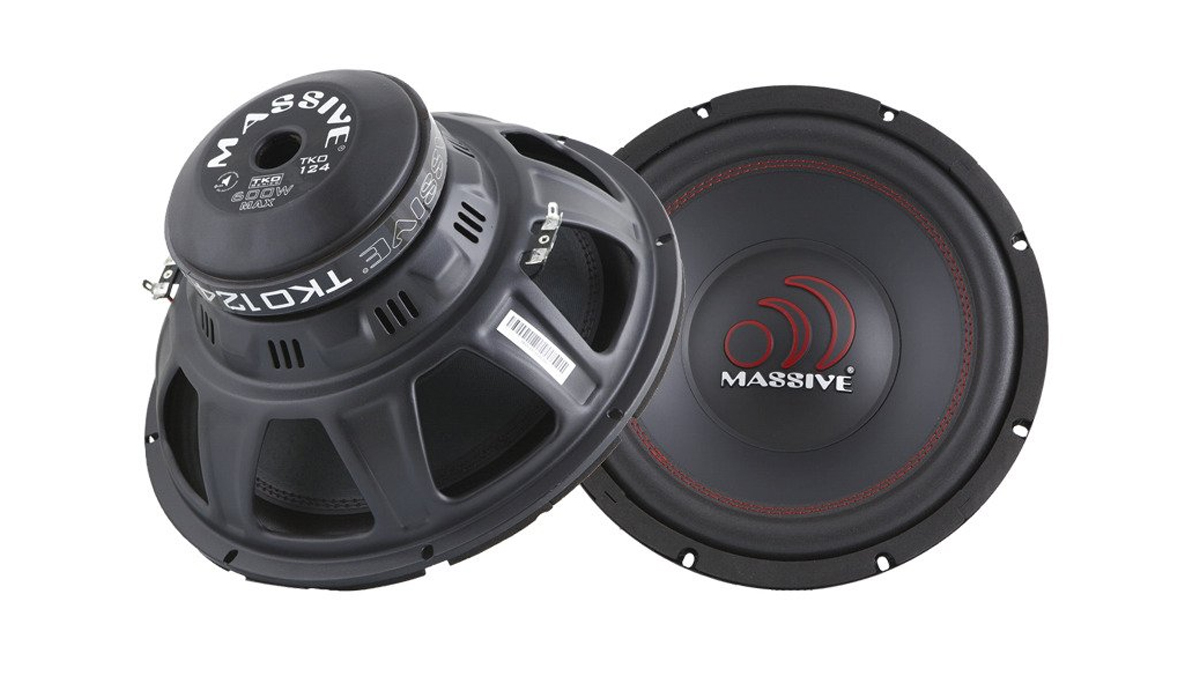 Massive Audio TKO124 TKO Series 12 inch 600 Watts Power with Dual 4 Ohm Subwoofer