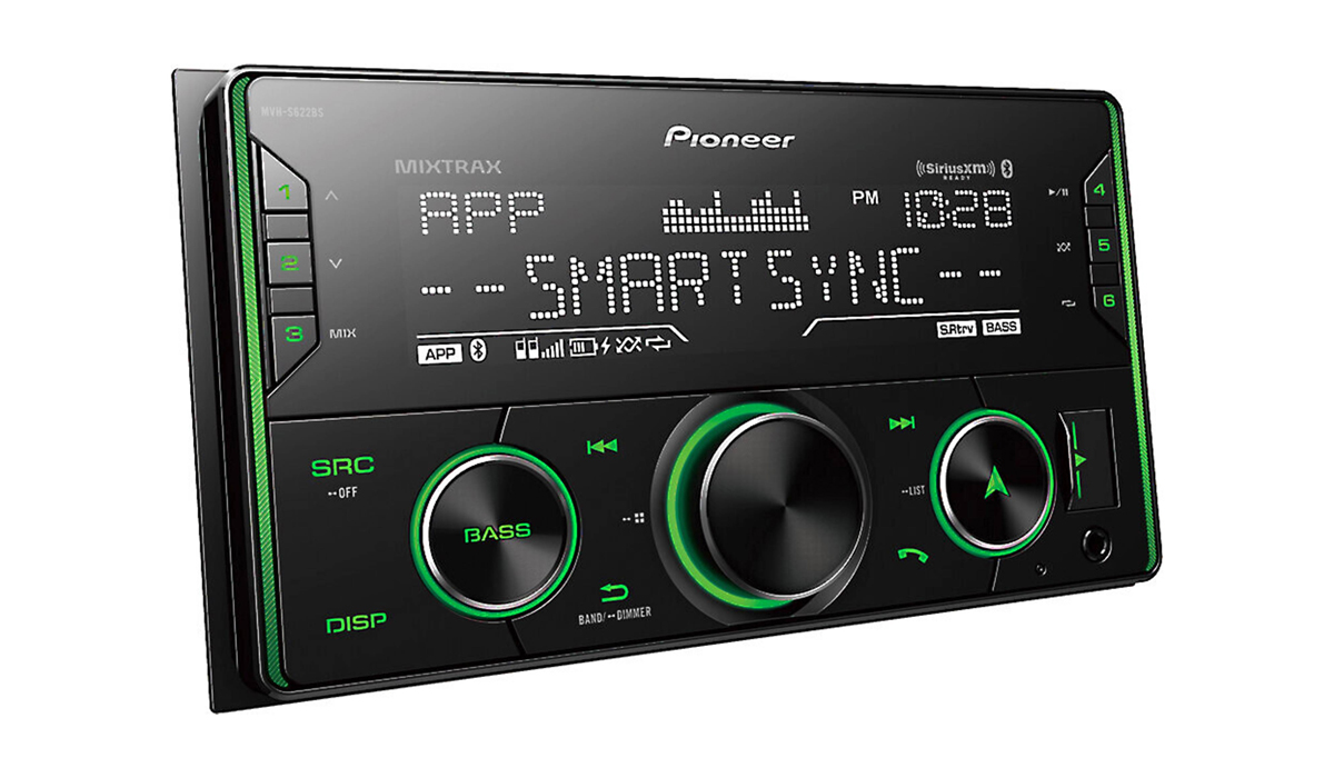 Pioneer MVH-S622BS 2-DIN Bluetooth Receiver with Alexa, Spotify, Pandora, SiriusXM Ready, Pioneer Smart Sync (Does not play CDs)