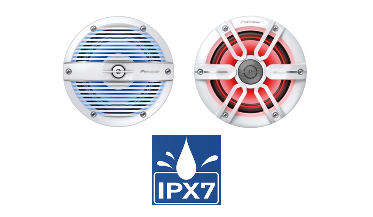 Pioneer TS-ME100WS 10 inch 900 Watts Max Marine Component Subwoofer with Sports Grille Design (interchangeable Black or White grille)