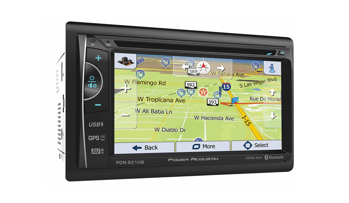 PDN-621HB 2-DIN GPS Navigation, MHL MobileLink X2, DVD, Bluetooth, CD/USB/MP3 Car Stereo w/ 6.2inch LCD