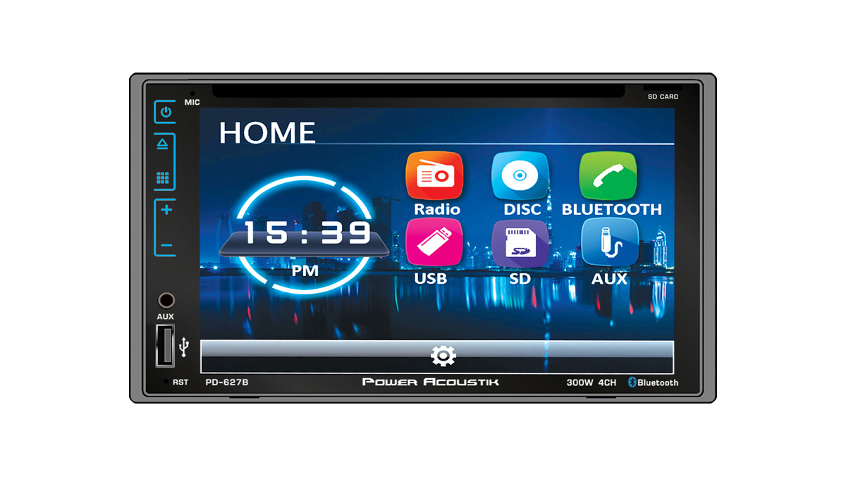 PD-627B 2-DIN 6.2inch Capacitive Touchscreen DVD Multimedia Car Stereo Receiver with Bluetooth, Rear View Camera
