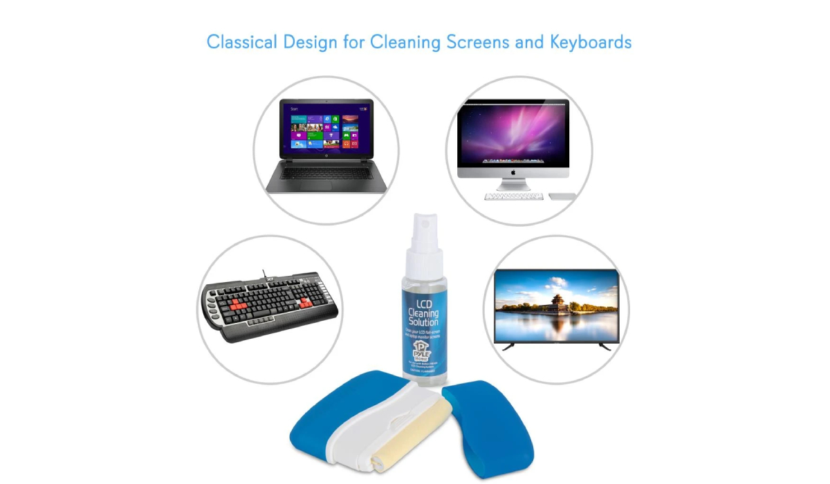 Pyle PCL107 LCD Screen & Computer Keyboard 8 pc Cleaning Kit