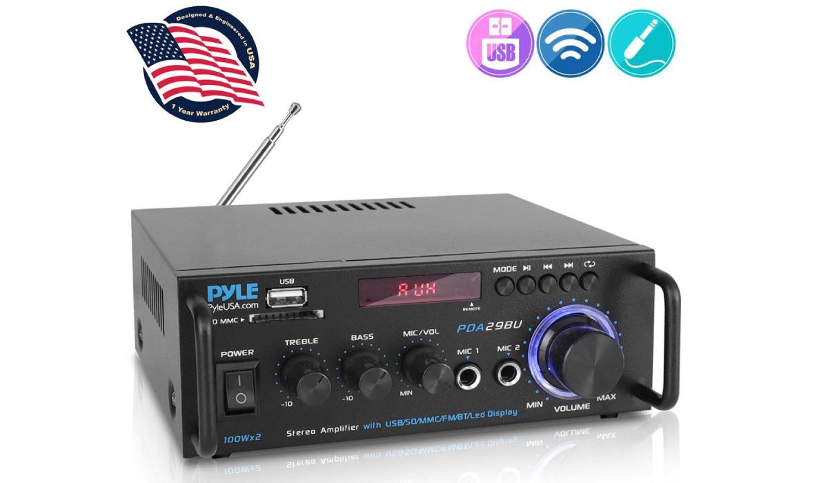 Pyle PDA29BU Wireless BT Stereo Power Amplifier