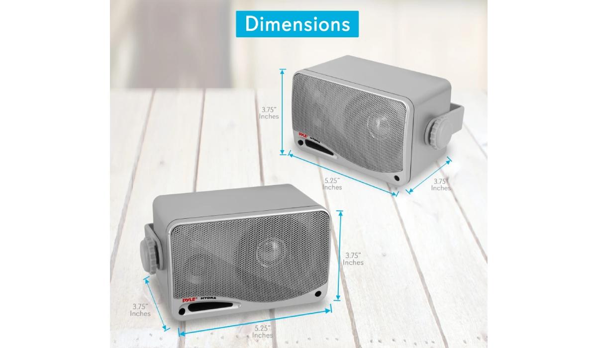 Pyle PLMR24S Indoor/Outdoor Wall Mount Speakers