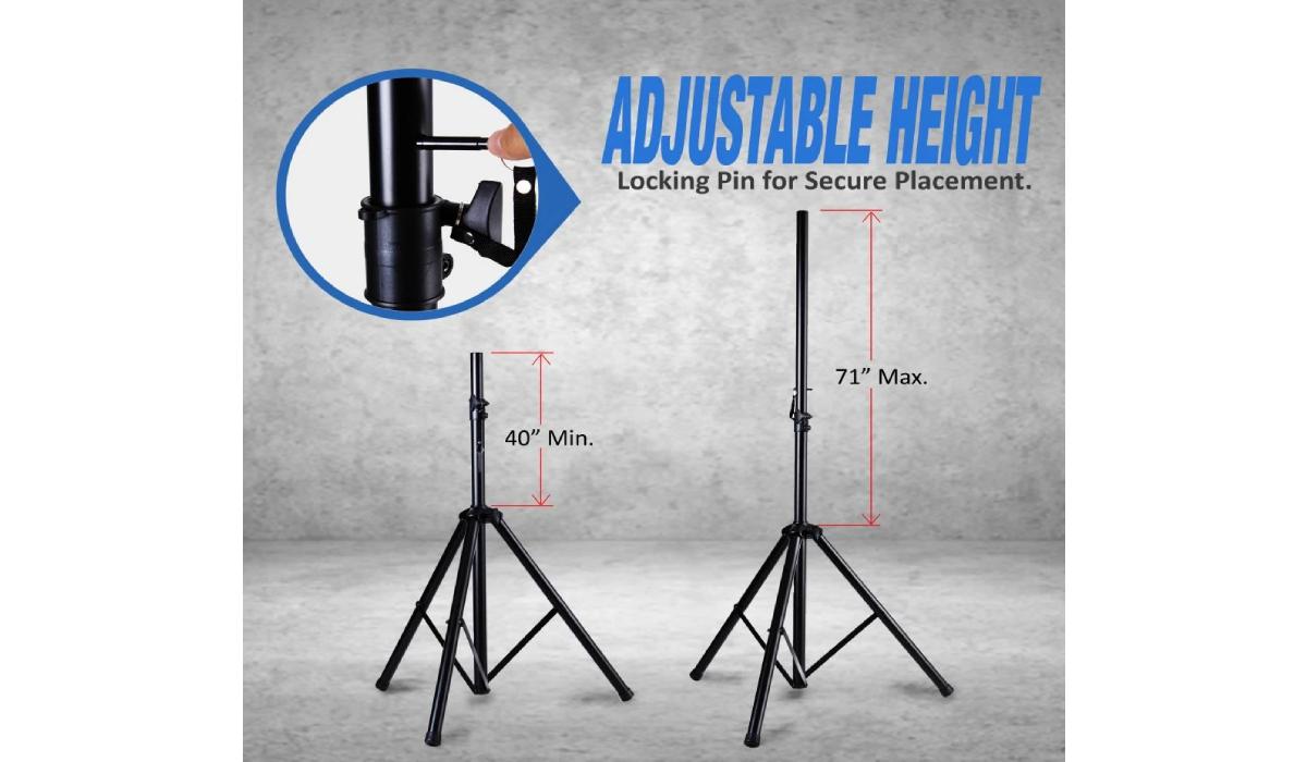 PSTK107 Dual Universal Speaker Stand Mounts