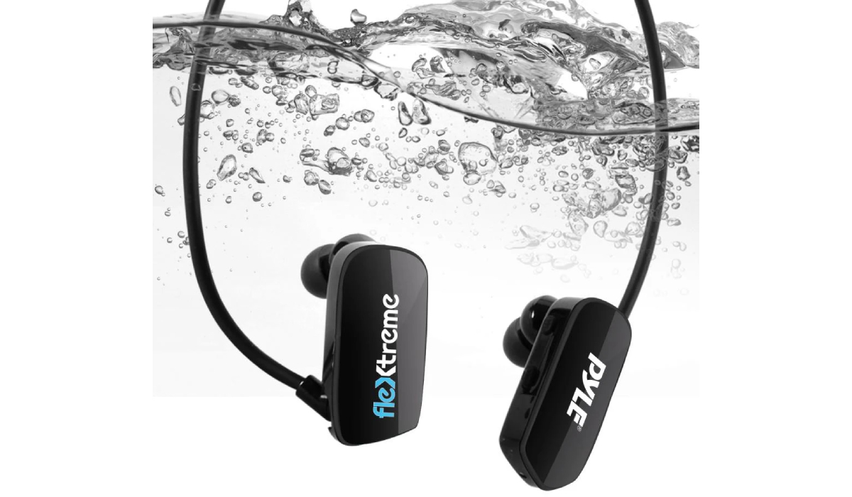 Pyle PSWP28BK Bluetooth Waterproof MP3 Player