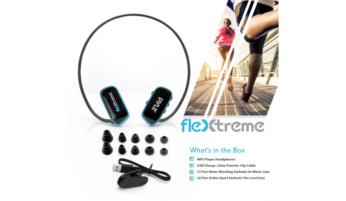 PDMICKT34 Flextreme Waterproof MP3 Player with Headphones