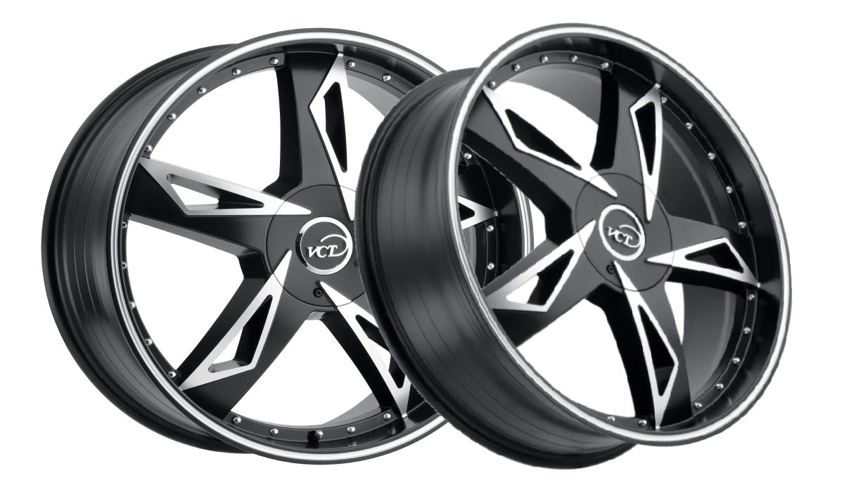 VCT Wheels V84 Black Machined